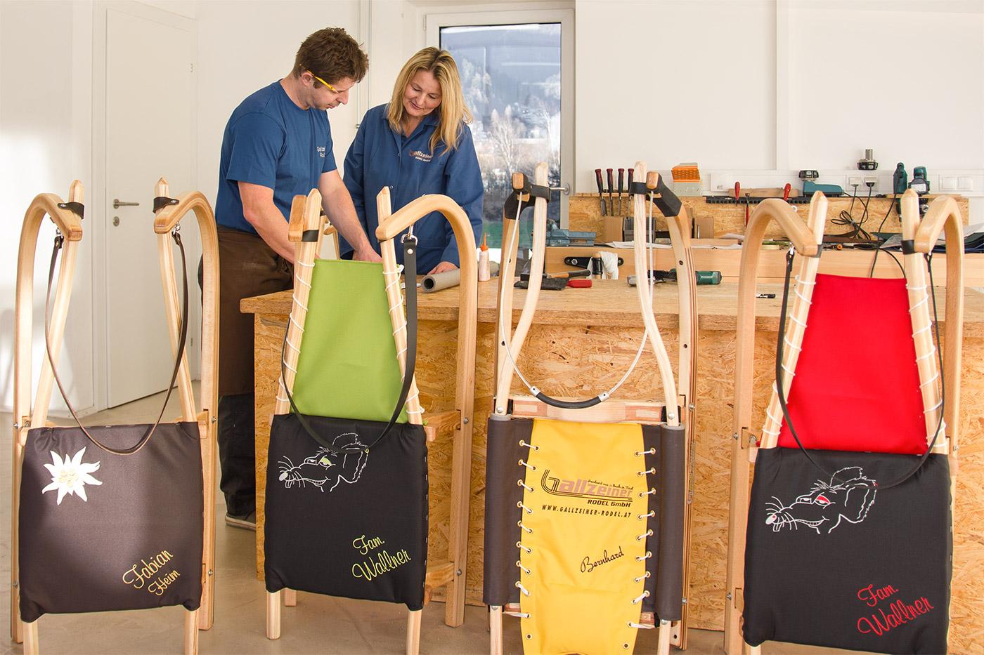 Gallzeiner Rodel GmbH | Buch in Tirol | Werkstatt Jenbach